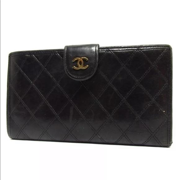 3ebc341d0720 CHANEL Handbags - Auth Chanel Pico Lambskin Long Wallet Vintage